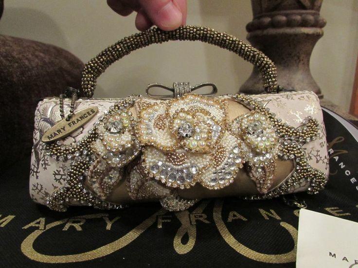 Mary Frances Handbags Retired Champagne Kisses Handbag Nwt Gorgeous Bag Baggies Pinterest And