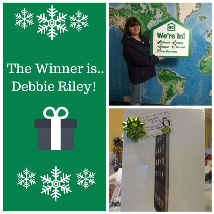 Congrats to Debbie Riley on winning the iPad from our draw!! #happyhomeowner