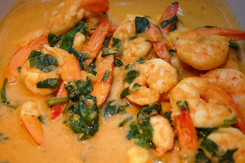 Curried Shrimp and Spinach: Spinach Recipe, Seafood Recipe, Coconut Milk, Paleo Curries, Curries Shrimp, Paleo Diet, Paleo Kids, Paleo Recipe, Diet Recipe