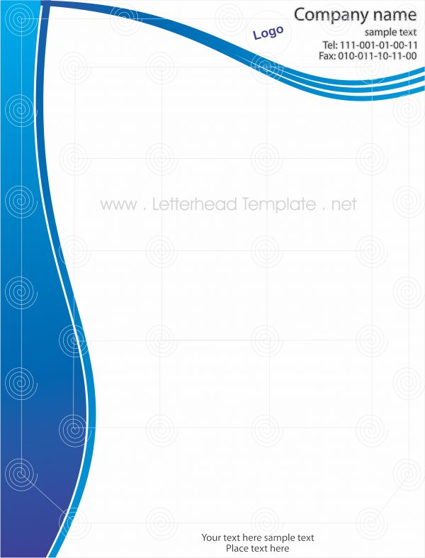 Blue Wave Letterhead Places to Visit Pinterest - letterhead sample