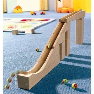Haba 1098 - Drewniana Skocznia Kulodrom z Kulkami dla Dzieci od lat 3. Zabawka stymuluje zmysły i rozwija umiejętności motoryczne