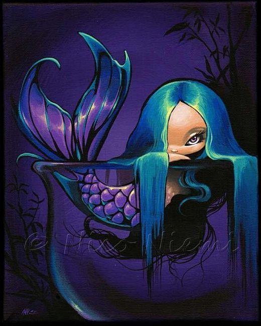Little Violet Mermaid. by Nico Niemi http://www.ebsqart.com/Artist/Nico-Niemi/2736/Art-Portfolio/Gallery/mermaids/Littlevioletjpg/641477/