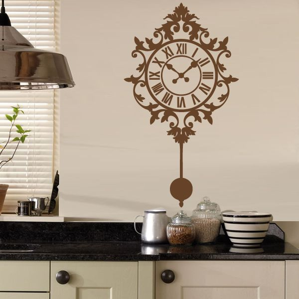 Decorative clock wall sticker available from vunk wall stickers http www vunk