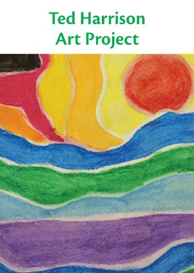 Students learn about arctic art and Canadian artist Ted Harrison with bold pieces of art. | lesson plan