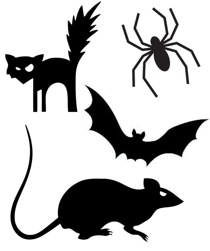 124 Best Halloween Silhouettes Images On Pinterest | Crows Ravens