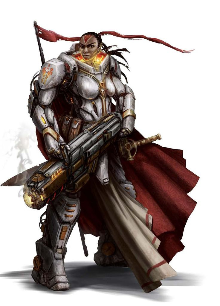 Seelah, Iconic Human Paladin - Starfinder RPG (Core Rulebook Art)