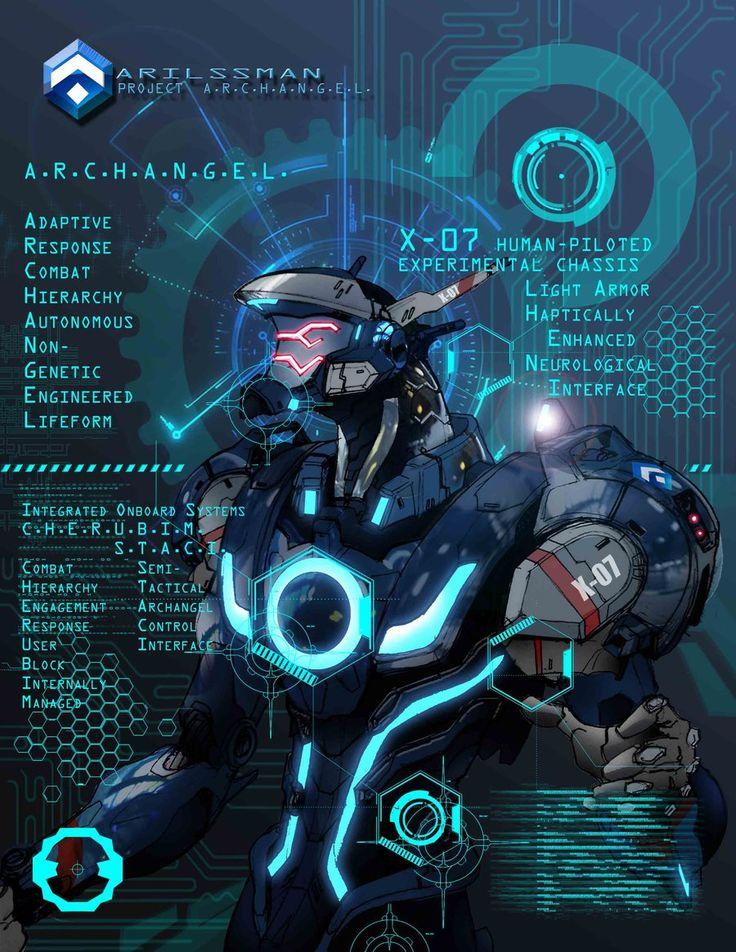ARILSSMAN A.N.G.E.L. Project - ARCHANGEL by Katase6626. Concept Design for TURING EVOLVED.