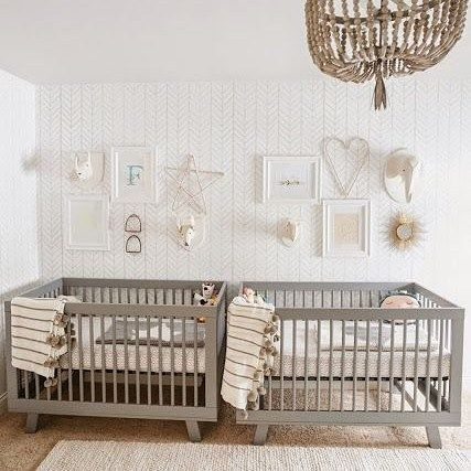 We've got two baby beans on the way  There's so many beautiful ideas on #pinterest for twin nurseries but we've got limited space  Any ideas for twin nurseries in small spaces? . . . . #beanhomebody #pinterest #nurseryinspo #twins #kidsinterior #nurserydesign #grey #neutral