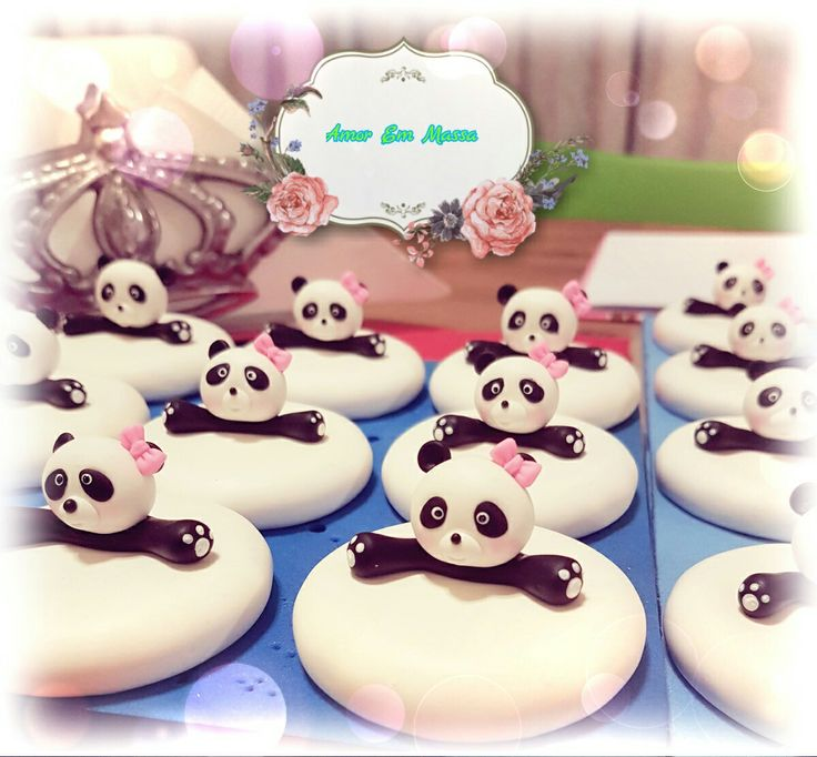 Panda love ❤ 🐼#love#coldporcelain#handmade#👌