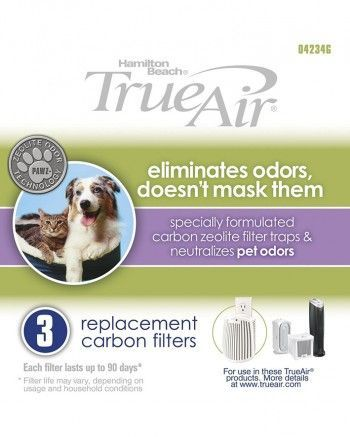 Buy Hamilton Beach trueair 04234g replacement carbon filter 3 pack which fits into Hamilton Beach true air compact pet air purifier model 04384 and Hamilton Beach true air plug mount model 04530GM. It can be purchased as 3 filters pack or 12 filters pack. Hamilton Beach Replacement Carbon Filter ...