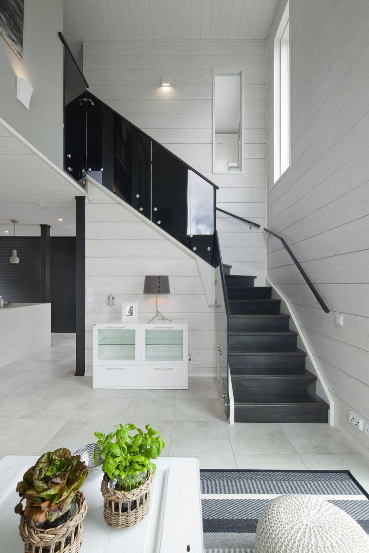 Honka Harmonia. Stairs by Lappiporras. Honka log homes.