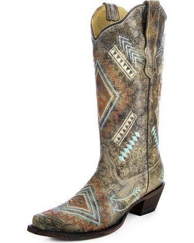 98250b26ebe Corral Women's Bone Multi Diamond - E1037   m e: my style   Boots ...
