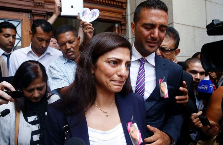Anni Dewani's Sister during the trial.