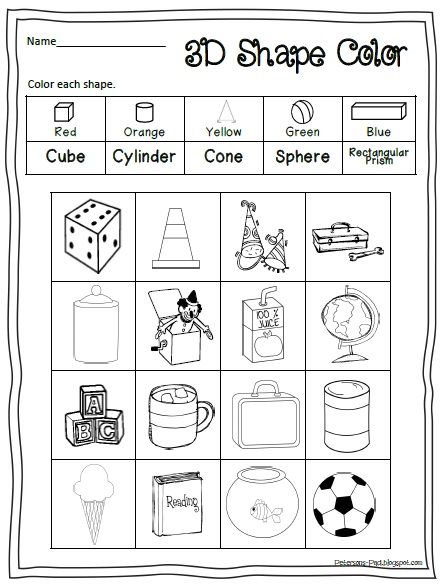 Number Names Worksheets fun activity for kindergarten : 1000+ ideas about 3d Shapes Kindergarten on Pinterest | 3d shapes ...