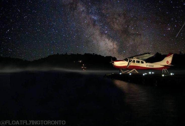 Instagram : by floatflyingtoronto - Night time on lake Muskoka