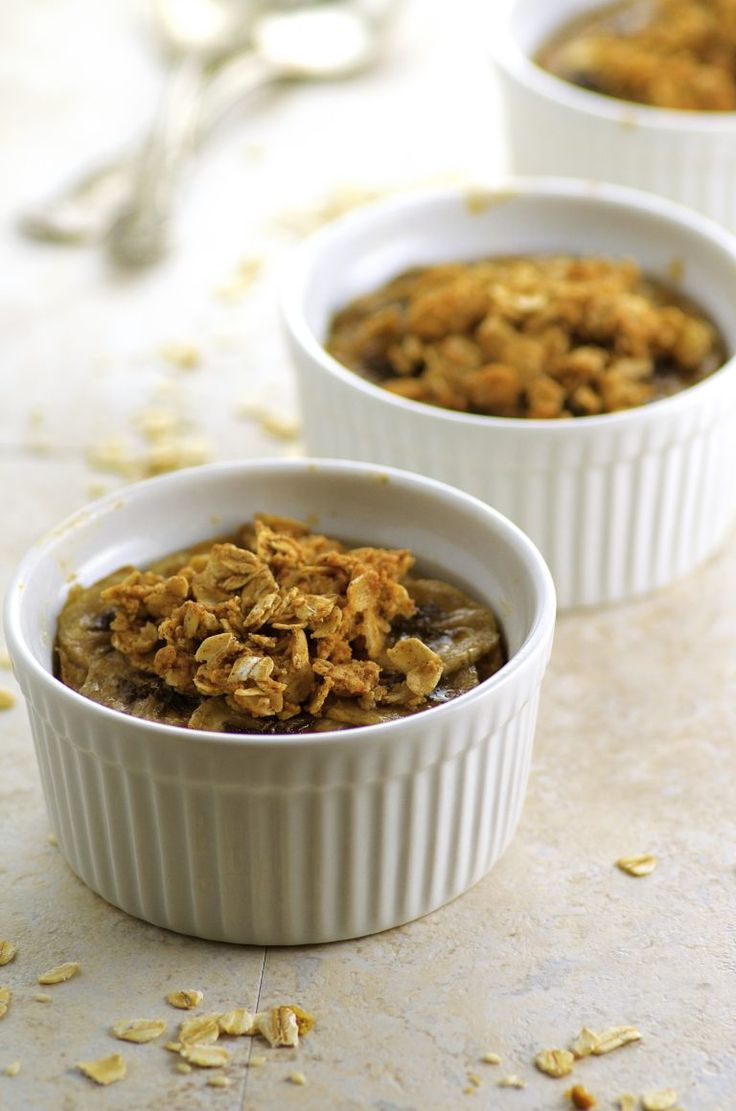 Peanut Butter and Banana Baked Oatmeal, make ahead and quickly warm up in the morning for a deliciously satisfying breakfast.