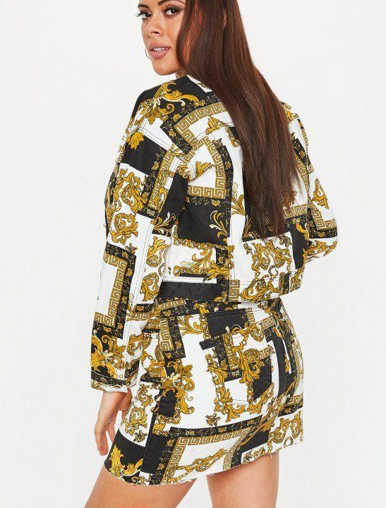 4ed0e533e4 Stela Cole - Lucky DayScarf Print Jacket - Missguided | S T Y L E ...