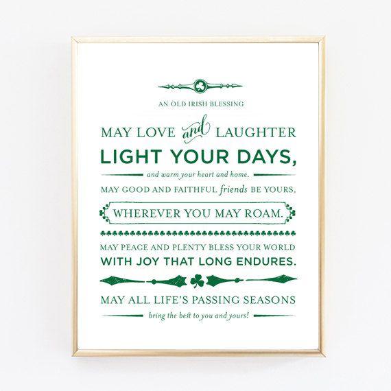 An Old Irish Blessing Print - Wedding Gift, Baptism Gift, Baby Gift