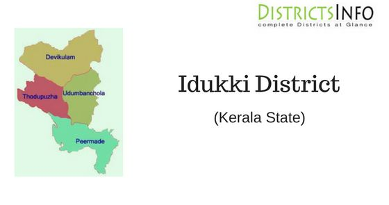 Idukki District With Talukas: Idukki is one of the 14 districts of Kerala state, India, created on 26 January 1972.Talukas in Idukki District