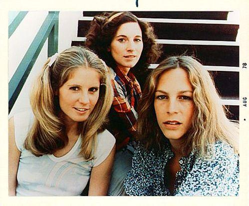 'The Ladies of Halloween'  -- Halloween [I](1978), ACW from top: 1. Nancy Kyes ~ Annie Brackett (as Nancy Loomis) 2. P.J. Soles ~ Lynda van der Klok 3. Jamie Lee Curtis ~ Laurie Strode. #halloweenatthemovies