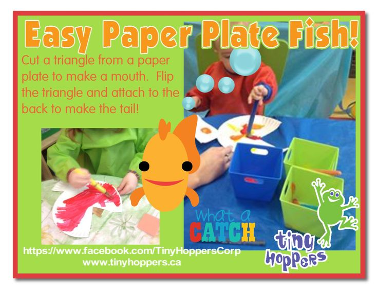 Easy Paper Plate Fish! - Tiny Hoppers