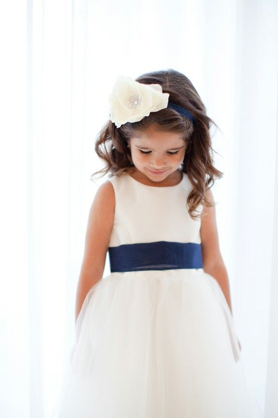Flowergirl dress  but with sky blue accents