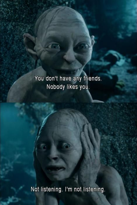 Just watched The Lord of the Rings tonight for the first time, and sadly Smeagol is my favorite character lol! He's so CUTE!