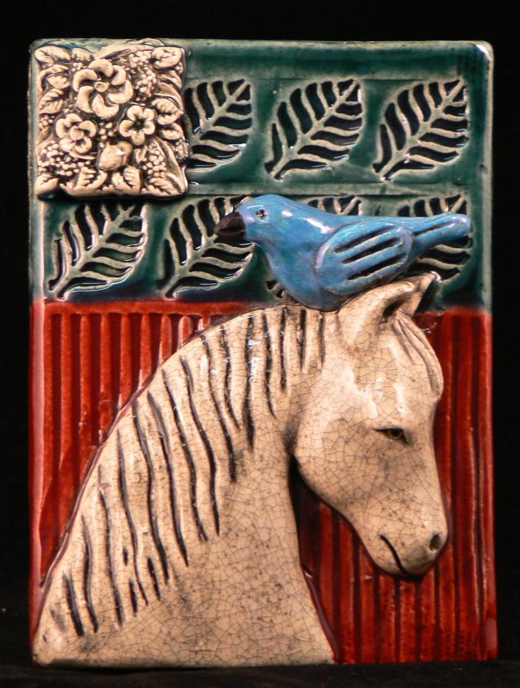 Horse Tile Tilebyfire Brooch Pinterest Birds Tile