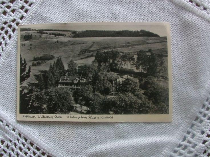 """Vintage  Postkarte """"Luftkurort Wildemann-Harz """" von MajaSt auf DaWanda.com"""