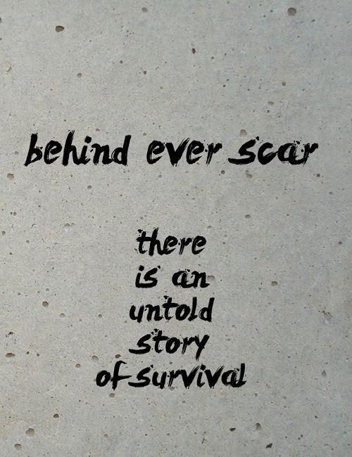 My husband is always telling me I should. Be proud of my scar! Eff cancer!