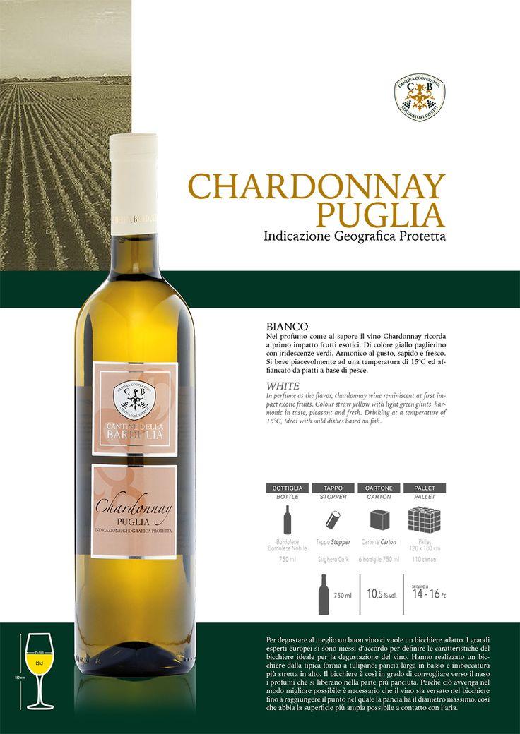 Nel profumo come al sapore il vino Chardonnay ricorda a primo impatto frutti esotici. Di colore giallo paglierino con iridescenze verdi. Armonico al gusto, sapido e fresco