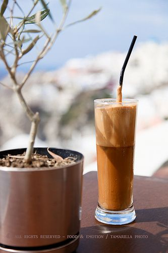 how to drink greek coffee