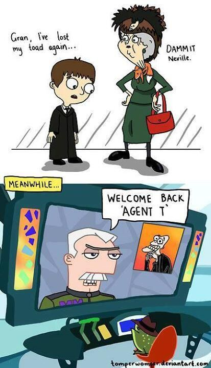 Awesome! Thank you to whoever made this. Harry Potter (well, Neville Longbottom) meets Phineas & Ferb