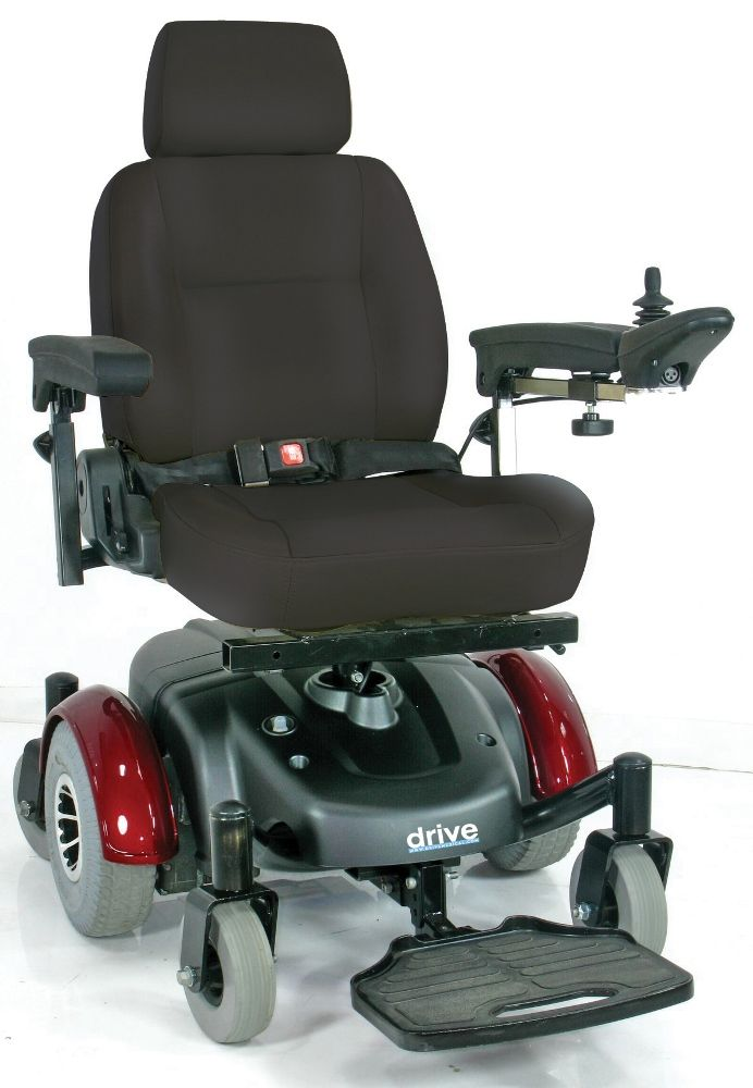 Image of Drive Medical Image EC Mid Wheel Drive Power Wheelchair, 20in Seat - 2800ECBU-RCL-20