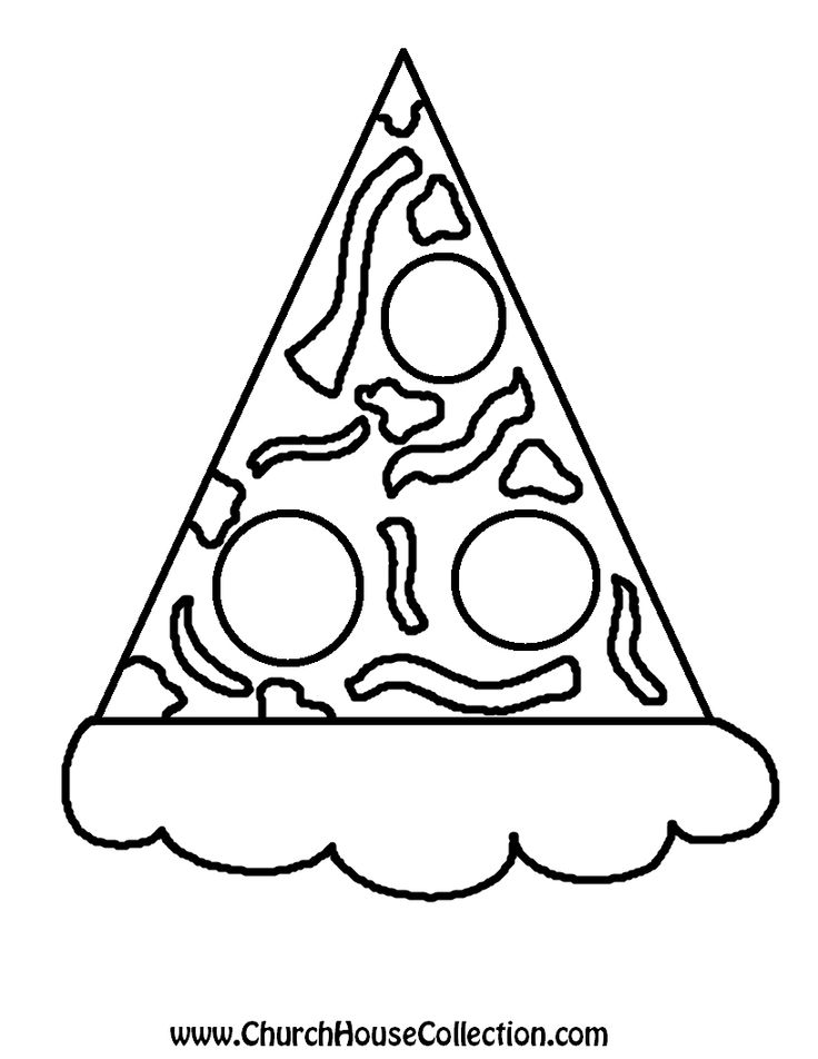 Church House Collection Blog: No Matter How You Slice It, Me And Jesus Make A Great Combo! Pizza Printable Template Cutout For Kids