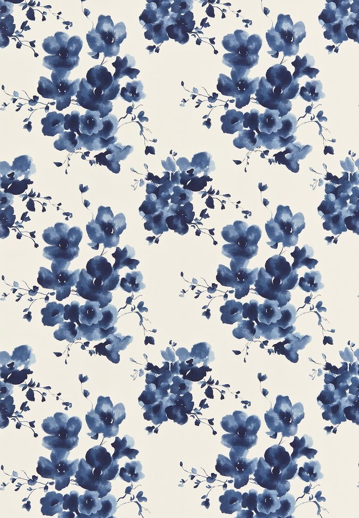 Floral Wallpaper Prepossessing Best 25 Blue Floral Wallpaper Ideas On Pinterest  Floral Inspiration Design