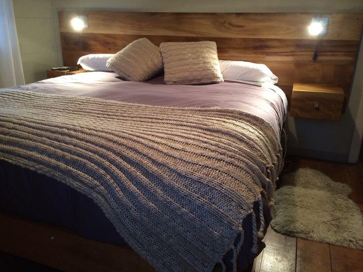 Respaldo de madera decoracion pinterest madera for Cama king size de madera