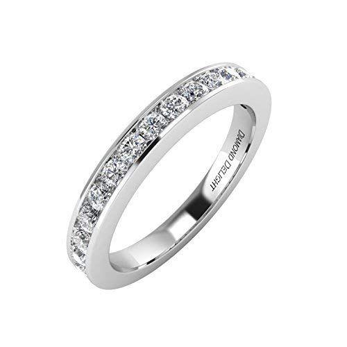 14k Gold Wedding Anniversary Diamond Band Ring 1 2 Carat Igi Certified Diamond Rings Bands Gold Wedding Anniversary Beautiful Diamond Rings