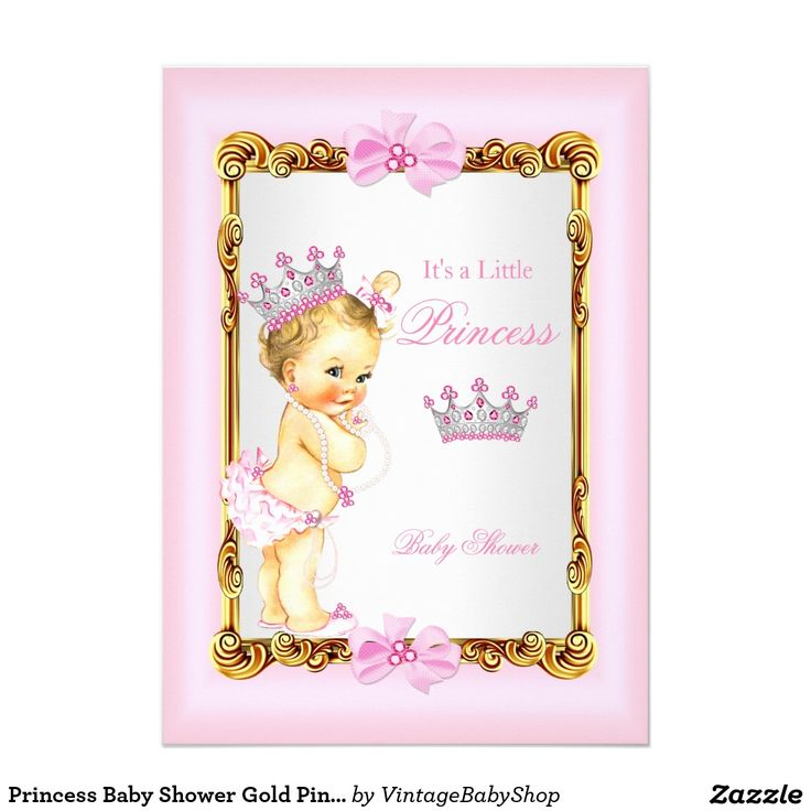 38 best Pink Gold Princess Baby Shower Invitations images on ...
