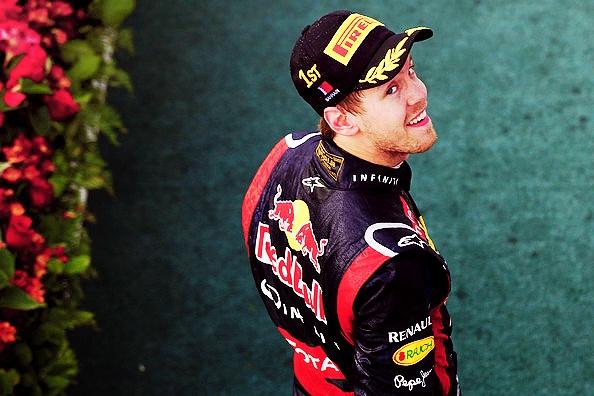 Sebastian Vettel in Bahrain.