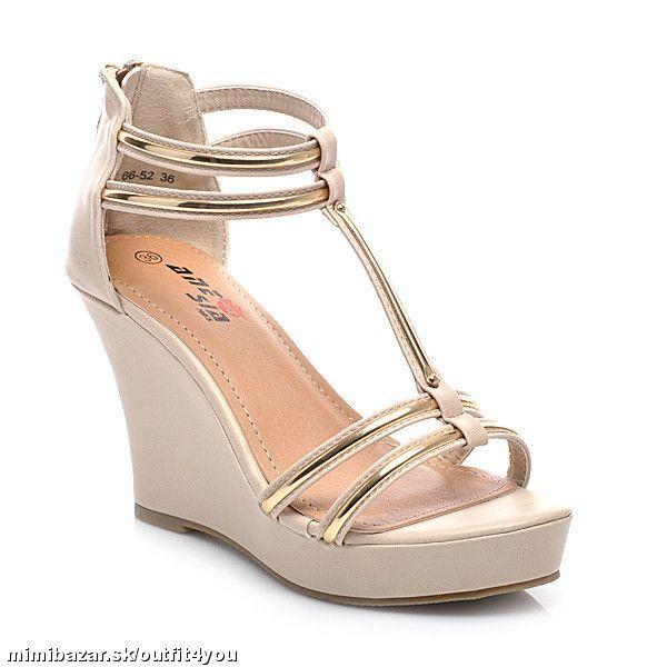 Klinové sandále rôzne farby a veľkosti 27e