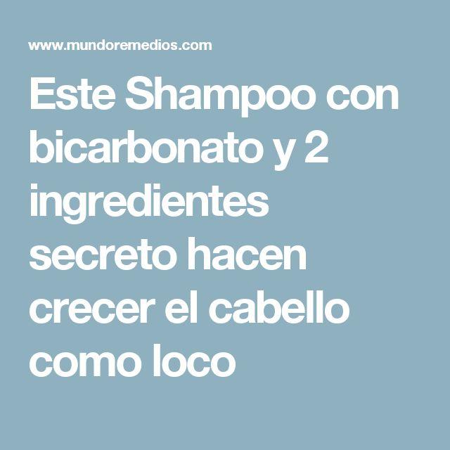 Este Shampoo con bicarbonato y 2 ingredientes secreto hacen crecer el cabello como loco