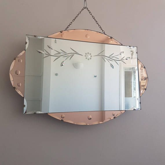 Your Place To Buy And Sell All Things Handmade Art Deco Mirror Etched Mirror Mid Century Modern Mirror