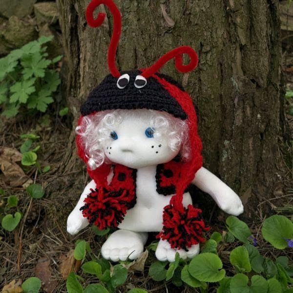 HANDMADOWO: Biedronek Franio  #handmade #doll #anioł #aniołek #angel #szyte #biedronka