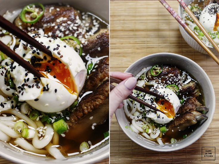 Ramen wieprzowy na żeberkach - Ramen soup cooked on ribs