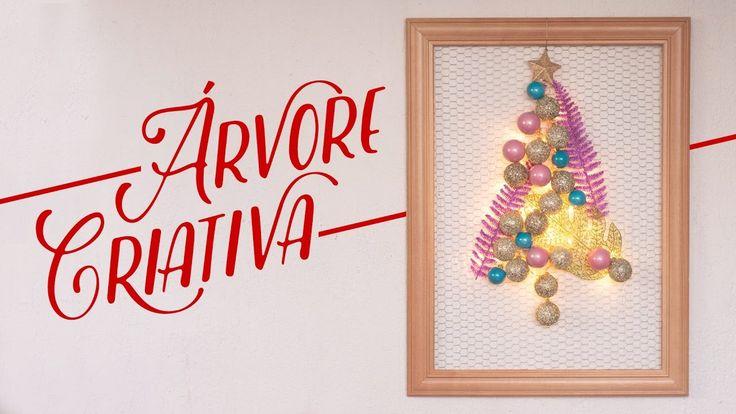Árvore de Natal criativa e na parede - #clubedacasa - Decoração - DIY