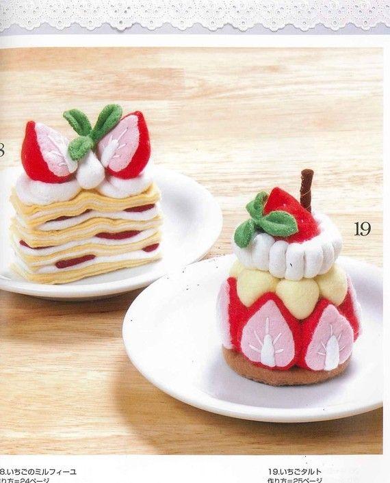 Cawauso Handmade Felt Dessert Book 01 Japanese by MeMeCraftwork