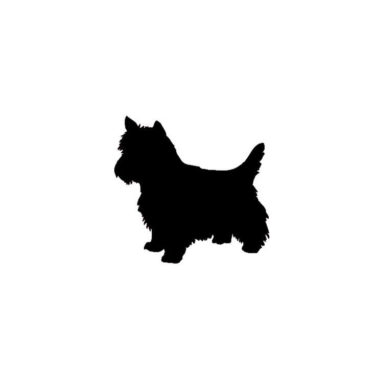 yorkie dog silhouette