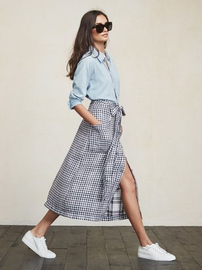 Midi skirts are a good way to feel like a lady and also give your calfs some time to shine. The Lia Skirt. https://www.thereformation.com/products/lia-skirt-marietta?utm_source=pinterest&utm_medium=organic&utm_campaign=PinterestOwnedPins:
