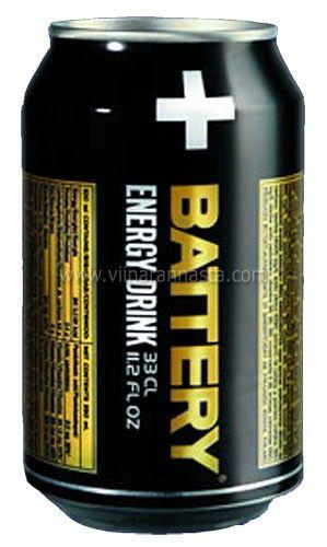 Battery Energy Drink Itsetehdyllä etiketillä